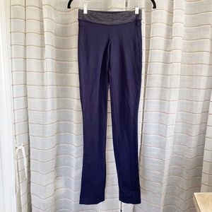 Lululemon Navy Blue & Gray Straight Leg Pants
